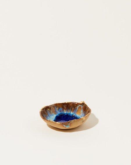 Minh Singer Mini Iceland Dish - Waterfall/Gold Splatter