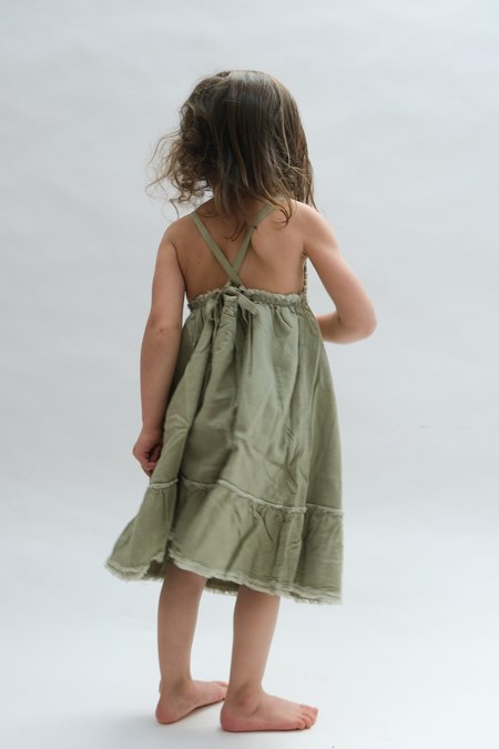 kids Raised By Water Louise Dress - Sage Green