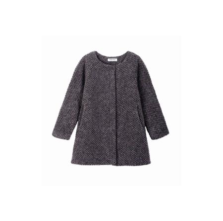 KIDS DIAPERS + MILK Textured Coat - GREY