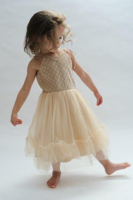 Kids Raised By Water Elle Dress - Beige