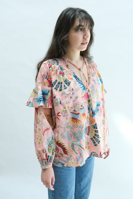 Rachel Comey Willow Top - Peach Tapestry Floral