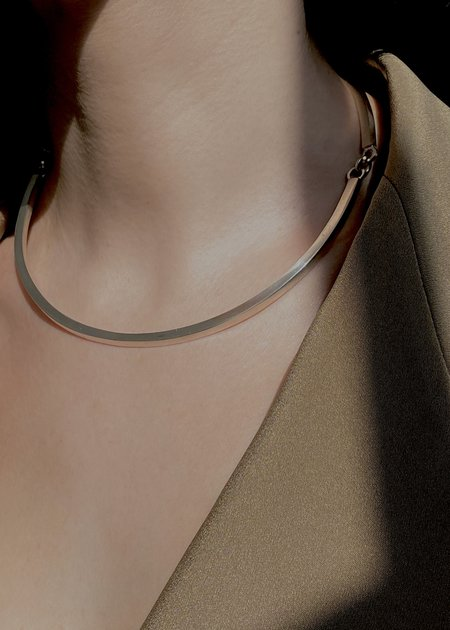 Modern Weaving Square Wave Collar - Solid Sterling Silver