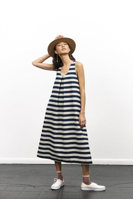 Carleen Stripe Denim Dress - WideStripe