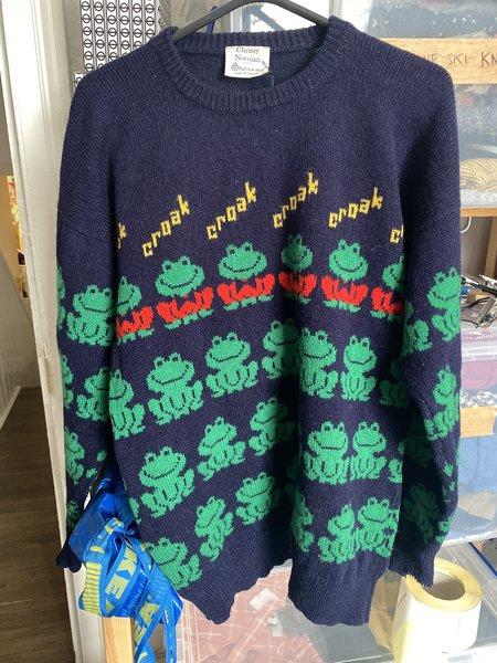 Vintage Chrissy Norman Frog Knit