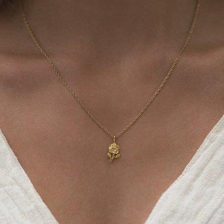 Leah Alexandra Rose Necklace - Gold