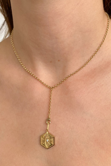 Thatch Charlie Lariat Necklace - Gold