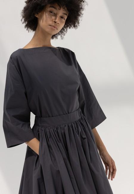Black Crane Petal Skirt - Faded Black
