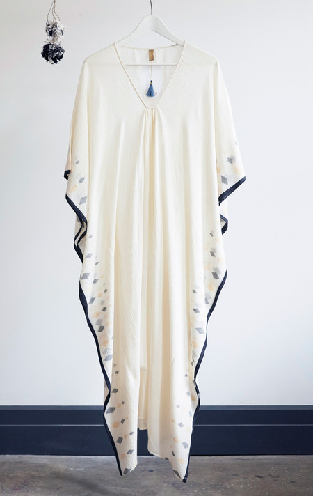 Two New York diamond  border caftan