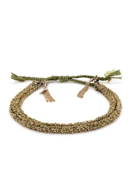 Marie Laure Chamorel Gold/Silk Jade Bracelet
