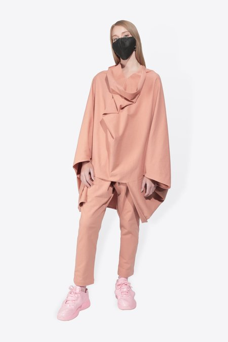 The Celect PONCHO TOP - SALMON