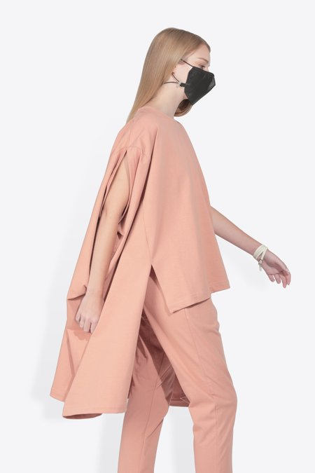 The Celect Rectangle Top - SALMON