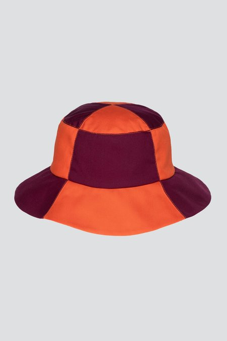Clyde 2 Tone Bucket Hat - Aperol/Plum