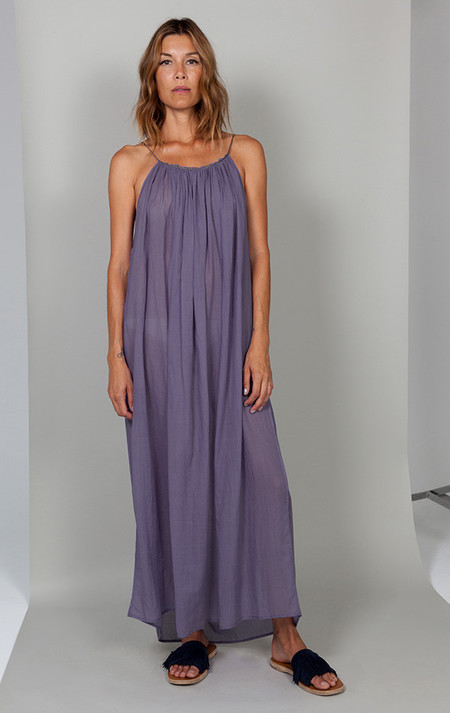 Two New York Dress with Metallic Cord - Purple