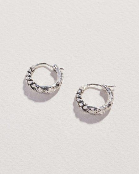 Pamela Love Braided Hoop Earrings - sterling silver