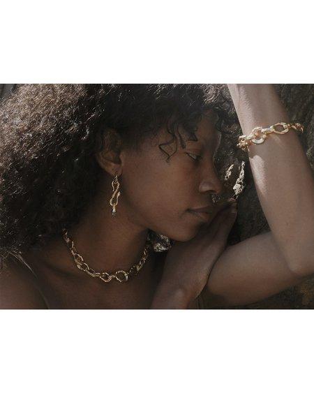 Pamela Love Braided Serpent Necklace - 14k yellow gold plate