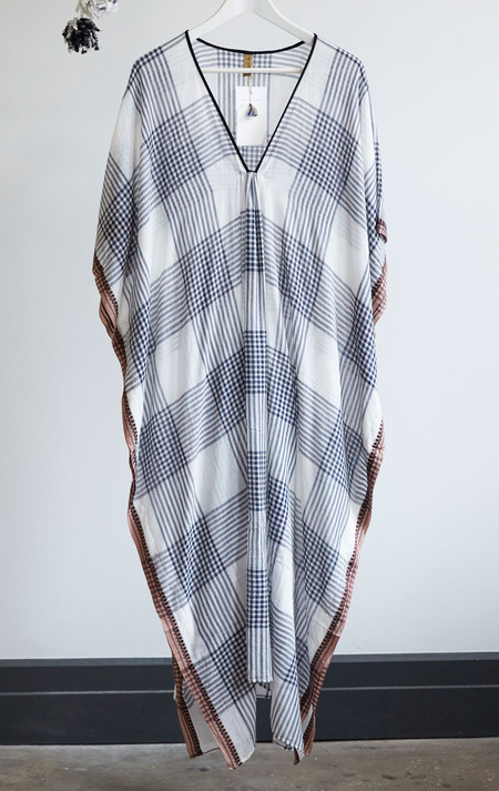 Two New York White Plaid caftan