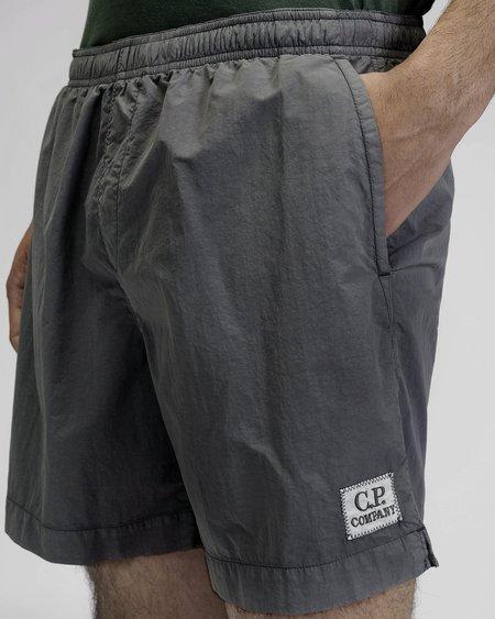 C.P. Company Patch Logo Swim Shorts - Charcaol