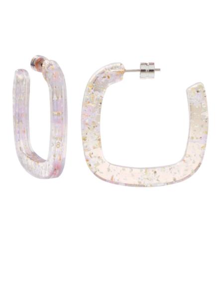 Machete Midi Square Hoops - Glitter
