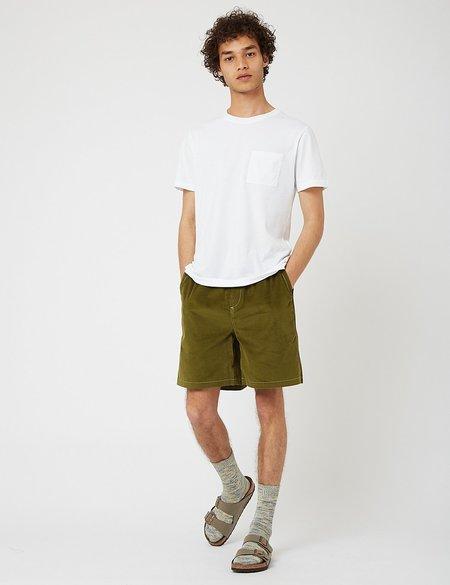 Bhode x Brisbane Moss Cord Shorts - Grass Green