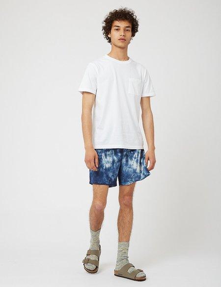 Bhode Drawstring Tie Dye Shorts - Navy Blue