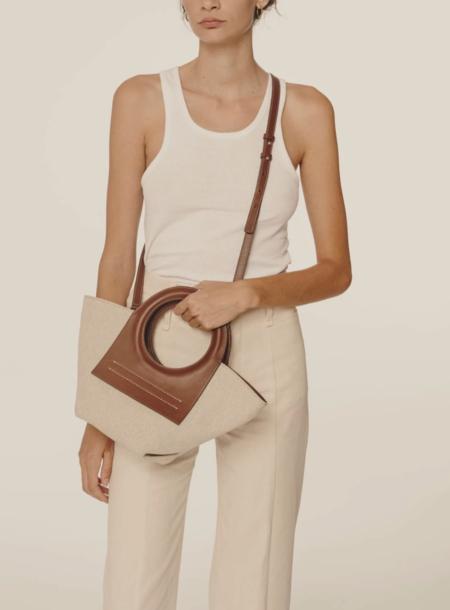 Hereu Cabassa Canvas bag - Tan/brown