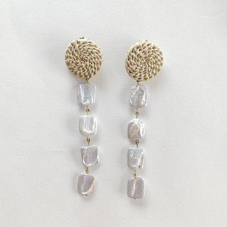 Crescioni rio earrings - Pearl/Brass