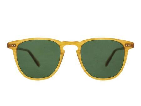 unisex Garrett Leight Brooks 47 sunglasses - yellow