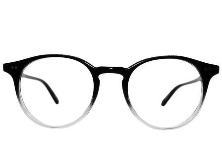 unisex Garrett Leight Clune 47 glasses - Black/White