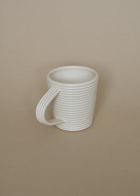 Local Shade Tapered Ribbed Mug - White
