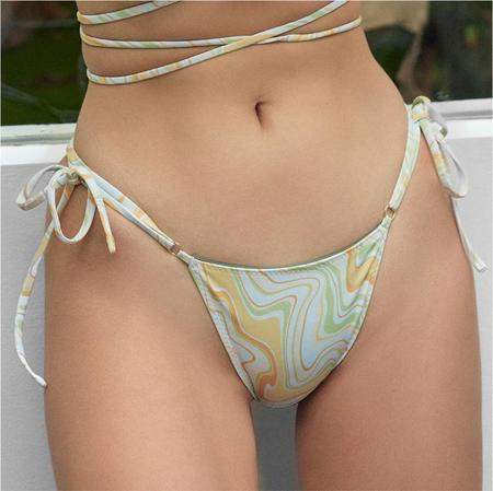 Palm Talise Tie Side Bikini Bottom - Goldie Print