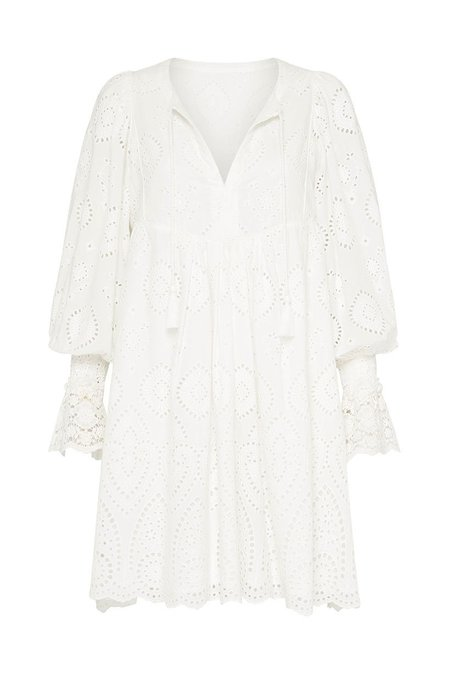 SPELL & THE GYPSY COLLECTIVE Dylan Smock Dress - White