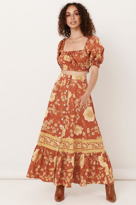 SPELL & THE GYPSY COLLECTIVE Sloan Maxi Skirt - Ochre
