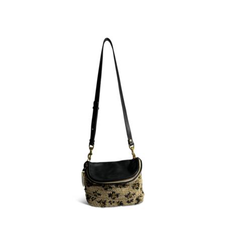 Kempton & Co. Raffia Mini Windbourne bag - Leopard