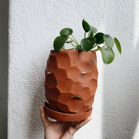 The Object Enthusiast Planter - Gold Terracotta