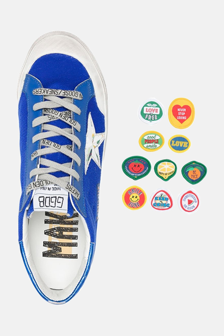Golden Goose Superstar Sneaker Shoes - Blue/Silver
