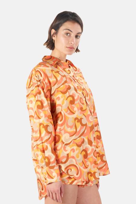 Zimmermann Mae Relaxed Shirt - Swirl