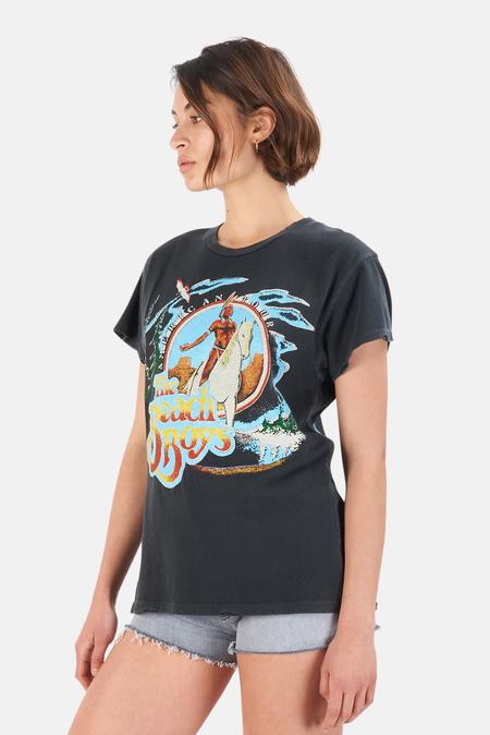 MadeWorn Rock Led Zeppelin Four Symbols T-Shirt - Coal Pigment