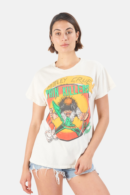 MadeWorn Rock Motley Crue Pain Killers T Shirt - Off White