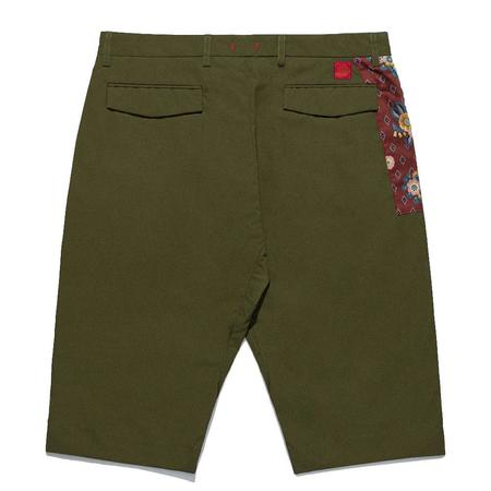 Clot Tailored Shorts - Olive