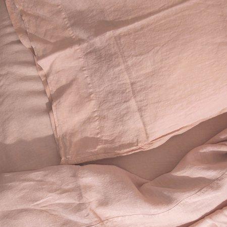 Hawkins New York Simple Linen Queen Duvet Cover - Blush