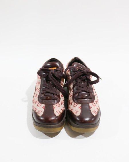[Pre-loved]Louis Vuitton Logo Jacquard Low Top Sneakers - Burgundy