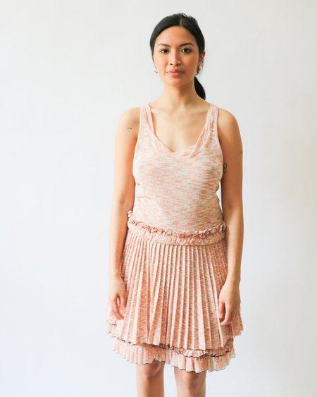 [Pre-loved] Missoni Knit Pleated Mini Dress - Peach