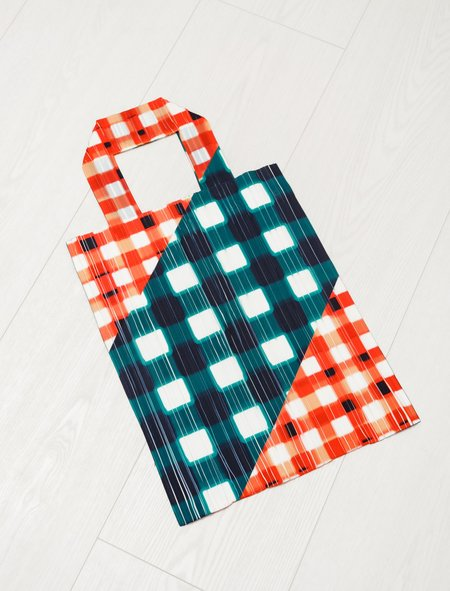 Pleats Please by Issey Miyake Maxi/Micro Gingham Bag - Watermelon