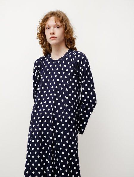 Comme des Garçons Panelled Polka Dot Jersey Dress