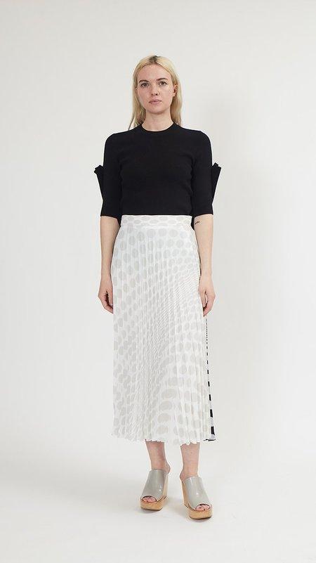 MM6 by Maison Margiela Polka Dots Midi Skirt - White