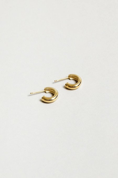 Wolf Circus Small Abbie Hoops Earrings - 14k Gold Plated Bronze