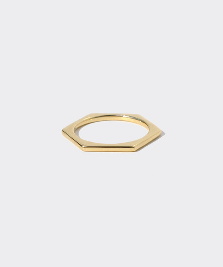 Gabriela Artigas Lust To Love Mini Hexagon Ring - Solid 14K Gold