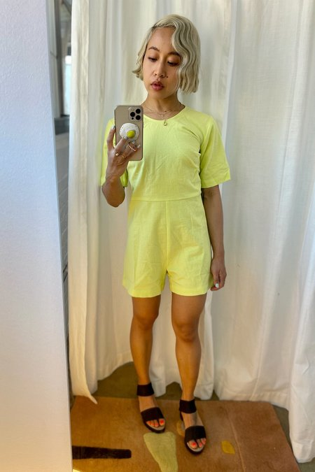Ilana Kohn Petite Exclusive Lee Romper - Key Lime