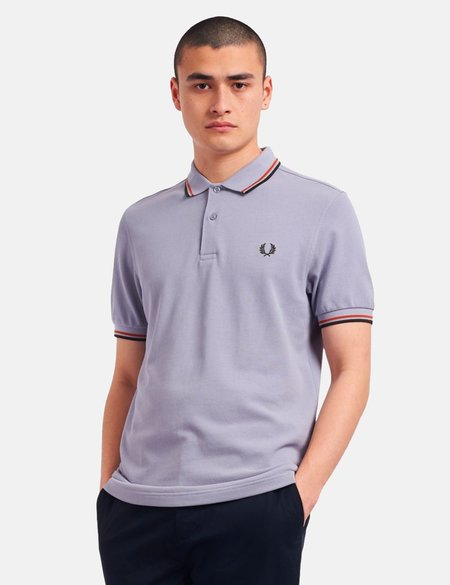 Fred Perry Twin Tipped Polo Shirt - gray