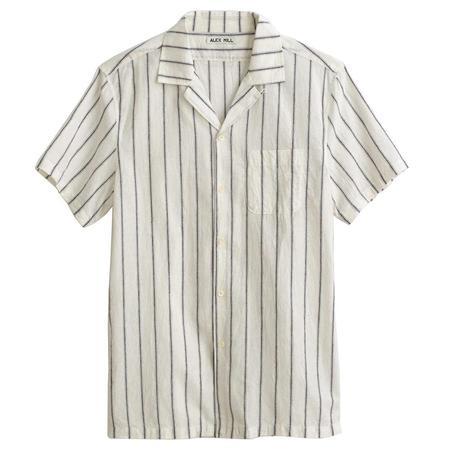 Alex Mill S/S Camp Shirt - OFF WHITE